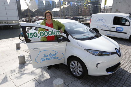 Ready for the road: Jana McGrath from Mayo, who is a new ecar ambassador for the Great Electric Drive.