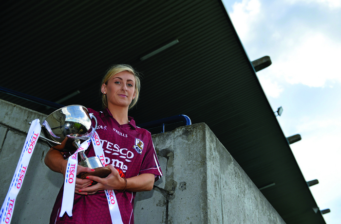 Galway captain Sinead Burke will be hoping to get hold of the division 2 trophy again on Saturday after leading her side into the final against Westmeath.