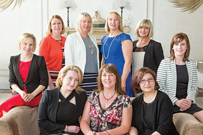 Finalists in the Network Galway Women in Business Awards, Denise Ryan, Ryan McGinty Accountants, Carol Donovan, Photo Art by Carol, Kerstin Harrington, president Network Galway, Anita Dunne, Inspired by Accessories, Ingrid Ramberg, Ramberg Painters and Decorators, and Irene Melody, Pillo Hotel. Front Row Clodagh Killeen, Castleturvin House Nursing Home, Cathy Dunne, I-Catch, and Andrea Lordachescu, Save the Date, pictured at the launch of the Network Galway Women in Business Awards in the g Hotel. Photo Martina Regan