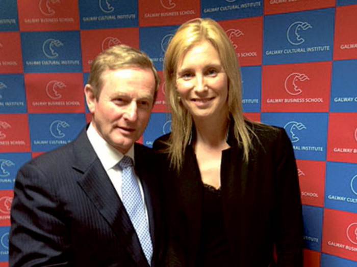 Fine Gael local candidate for Galway City West Cllr Michelle Murphy with An Taoiseach, Enda Kenny, at a recent Galway Chamber of Commerce event focused on driving investment into Galway city.