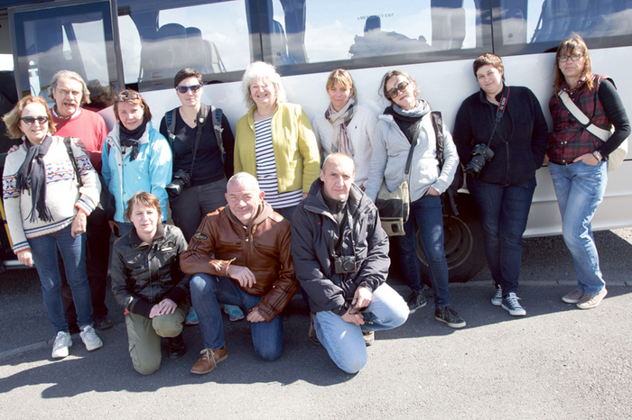 French journalists with Anne Zemmour, Tourism Ireland (back, centre), Danielle Ollivier (back, third left) and Jean-Claude Georget (front, centre), both Brittany Ferries.