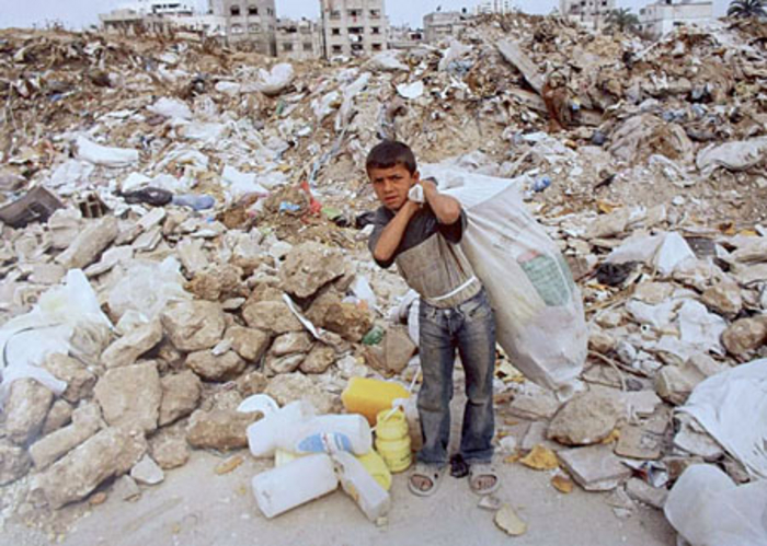 A child in Gaza - the most impoverished place in the Middle East.