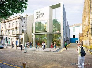 The planned redevelopment of the ramps area of the Eyre Square Centre.