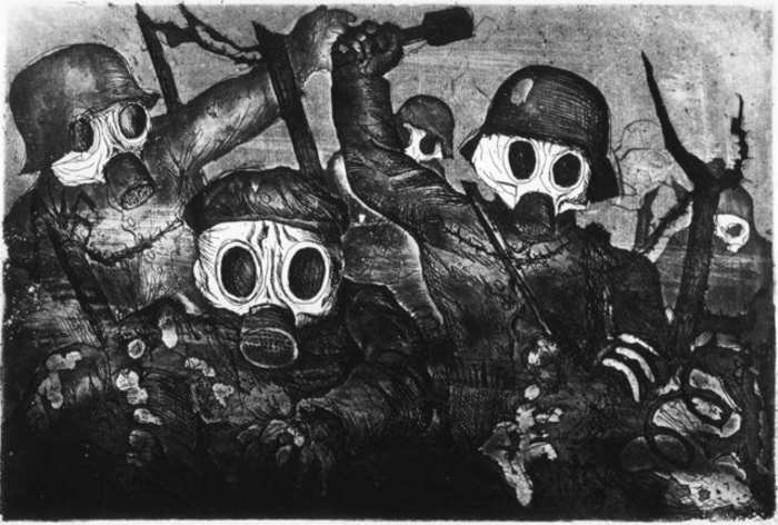 Strumtruppe Geht Unter Gas by German Expressionist and WWI veteran Otto Dix.