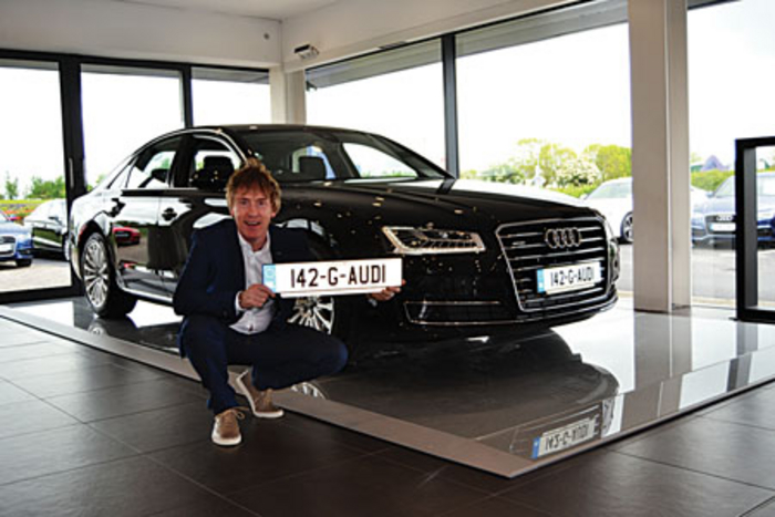 Audi Galway brand ambassador Hector O hEochagáin launches the Audi Inspiration sales event at Audi Galway.