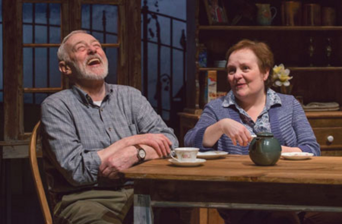 John Mahoney and Penny Slusher in Cappatti.