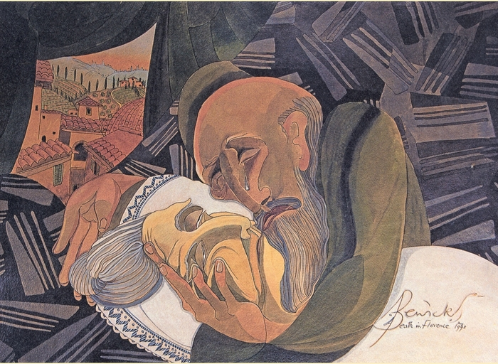 The Pauline Bewick painting used on the cover of Hellkite.