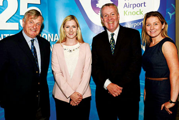 Pictured at the launch of Ryanair's biggest summer and winter schedule from Ireland West Airport Knock at the Knockranny House Hotel were, left to right: Fergus Kilkelly, Kilkelly Travel, Castlebar; Councillor Lisa Chambers; Peter Bellew, head of sales and marketing, Ryanair; Pamela Brownlee, Flyaway Travel, Ballina