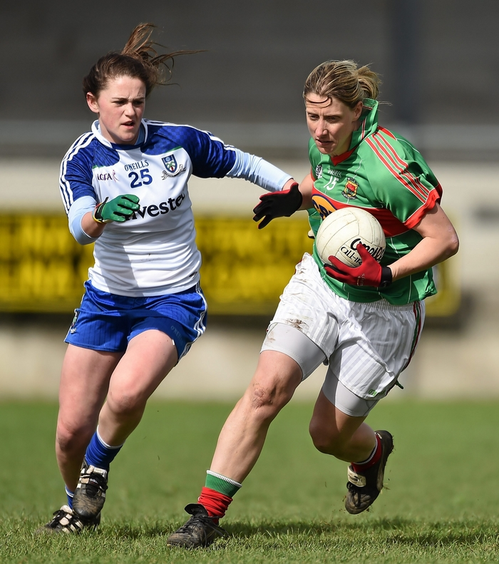 Despite scoring 0-11, Cora Staunton found herself on the losing side in Sunday's Connacht Final. Photo:Sportsfile.