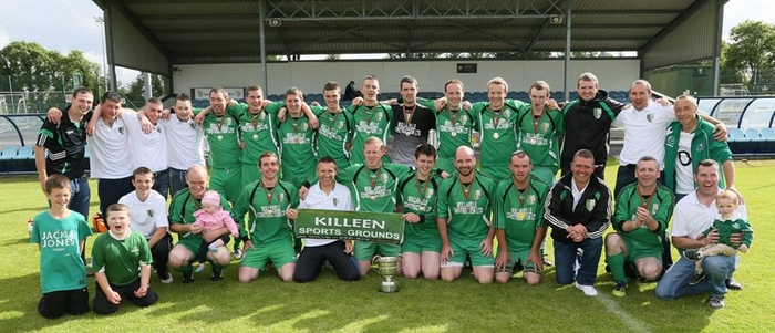 The Kilmore squad celebrate after winning the Tonra Cup in Milebush. Photo: Michael Donnelly