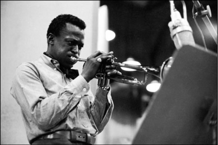 Miles Davis - often among the playlist at Sunday Service at Massimos.