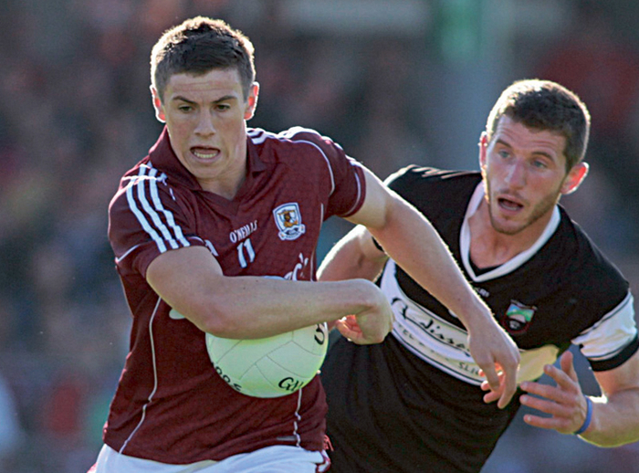 Shane Walsh of Galway's half-forward line, in action against Sligo, will face a big test on Sunday against Mayo in the Connacht Football Senior Championship final at McHale Park . Photo:-Mike Shaughnessy