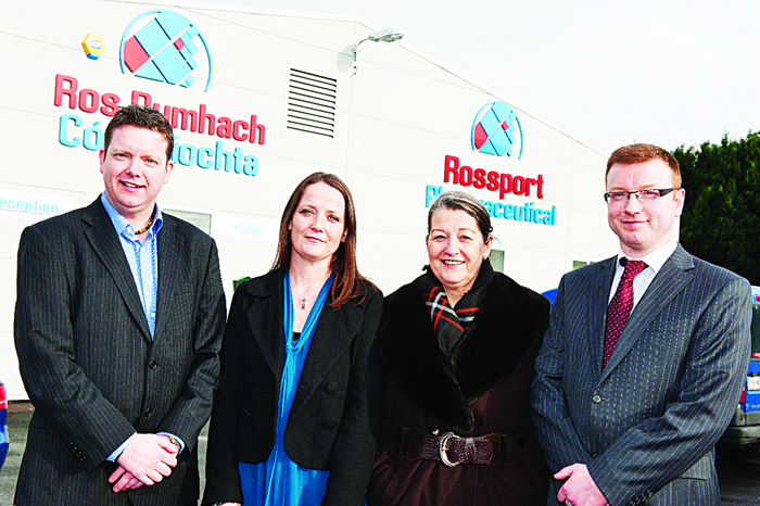 Kix managing director, Brian Geraghty and family, outside the Ros Dumhach Cogaisiochta factory at Cornamona, Galway, which produces Nicofresh e-cigarettes and e-liquids.