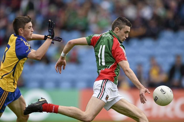 Kicking captain: Cian Hanley led the Mayo minors to victory in Sunday's Connacht MFC Final. Photo:Sportsfile.
