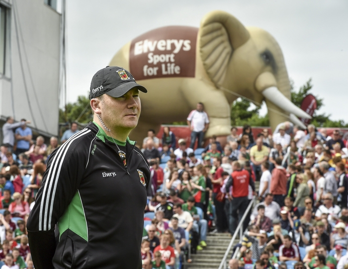 Manning the line: James Horan has guided Mayo to four Connacht titles in a row. Photo:Sportsfile