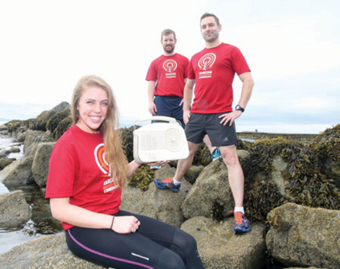 Pictured launching Connemara's boutique half marathon, the Marconi Half Marathon which will take place on Saturday September 20 (l-r): Sophie McLoughlin and Dave Fitzpatrick, Marathon participants, and Thomas King, organiser of the Marconi Half Marathon. Starting at 11am, the race begins at Gurteen Beach in Roundstone and finishes in Clifden.