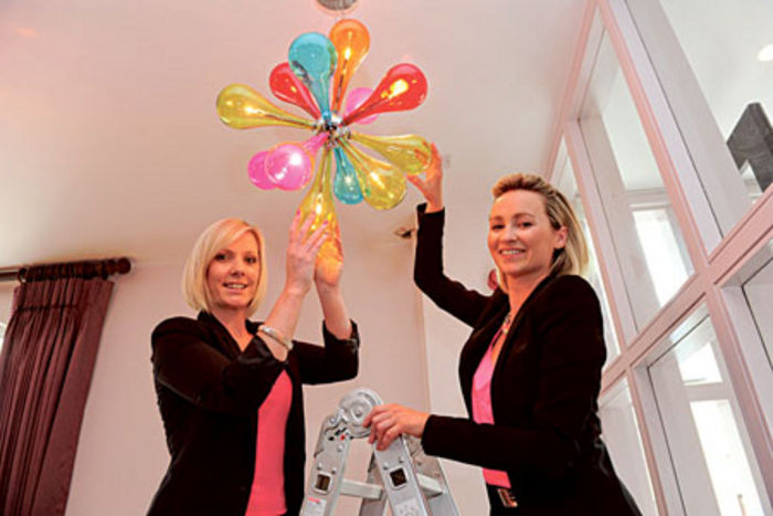 Aislinn O'Driscoll, sales and marketing manager, and Margaret Jenkins, general manager, putting the final touches to the newly refurbished House Hotel. The hotel reopens its doors tomorrow night, Friday July 25.