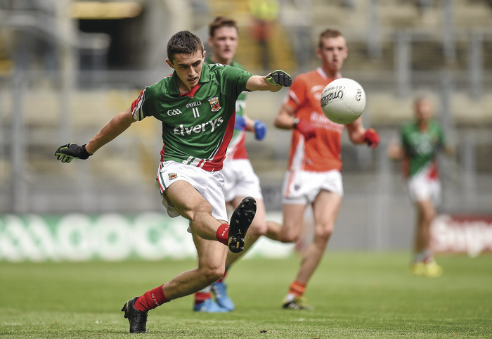 Mayo minor Cian Hanley in action. Photo: Sportsfile.