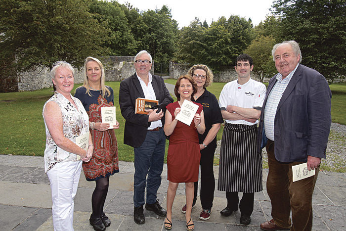Attending the launch of the Lady Gregory of Coole Park Autumn Gathering at Coole Park on Tuesday were (l-r) Marion Cox, Deirdre Holmes, Ronnie O'Gorman, Eileen O'Connor, Margaret Parry, NPWS, Stephen Quin, Coole Park Tea Rooms, John Quinn. The Gathering takes place from September 26-28th. Photo:-Mike Shaughnessy