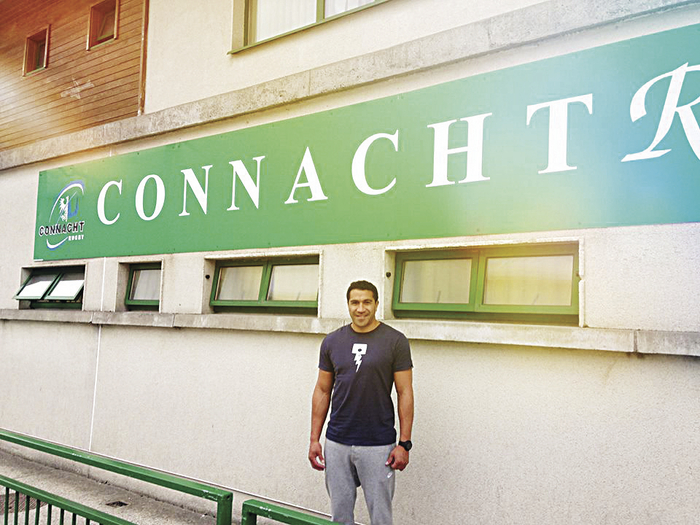 Connacht Rugby's marquee signing Mils Muliaina visits his new club's facilities for the first time at the Galway Sportsground.