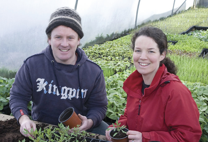 Padraig Fahy and Úna Ní Bhroin owners of Beechlawn Organic farm who will shortly secure funding of a loan of €20,000 via peer-to-peer lending company Linked Finance.