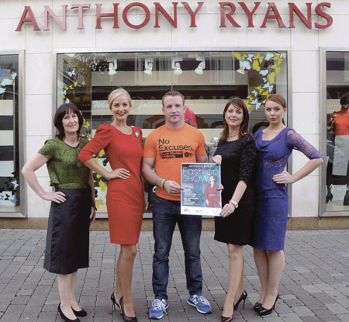 At the launch of the Anthony Ryans Autumn Fashion Show which will be held in the Ardilaun  Hotel on October 7 are: Claire Sullivan, CF Association; Rachel Kelly, Catwalk Model Agency;  Pat Divilly, Fitness; Cora Casserley, marketing manager Anthony Ryans; and Tirna Slevin, Catwalk Model Agency.