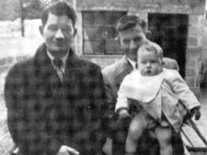 Peter Tyrrell pictured with his brother and nephew.