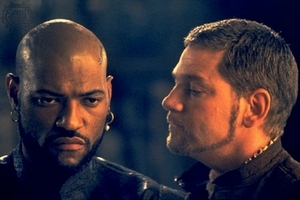 Laurence Fishburne and Kenneth Branagh in the 1995 film version of Othello.