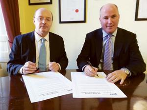 Billy Harkin, programme director at EUMC and Eamon O'Flaherty, senior vice president of IPAV.