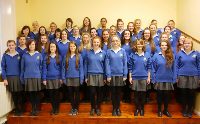 The senior choir at St Joseph's Secondary School, Castlebar.