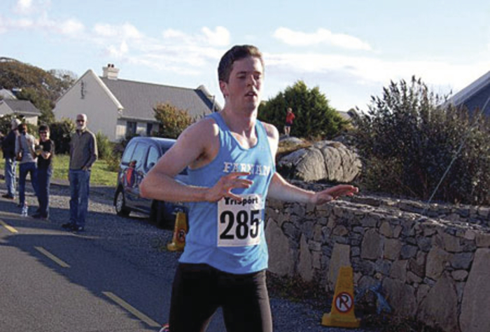 Richard Farnan wins the Conamara 10km on Saturday.