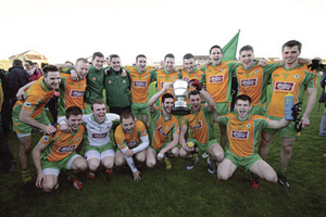 County Champions Corofin celebrate victory over St Michael's in the Galway Senior Football championship final at Tuam Stadium on Sunday. 							Photo:-Mike Shaughnessy