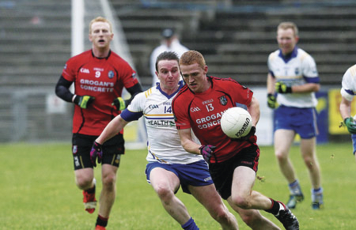 Running to victory: Ballyhaunis will be looking to the likes of Kevin Byrne to lead them to victory on Sunday. Photo: Michael Donnelly
