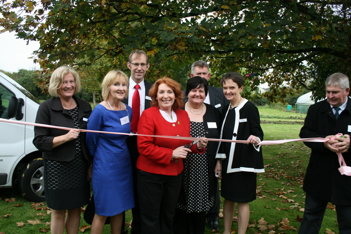 Minister Kathleen Lynch performs the launch at Clarenbridge Nursing Home