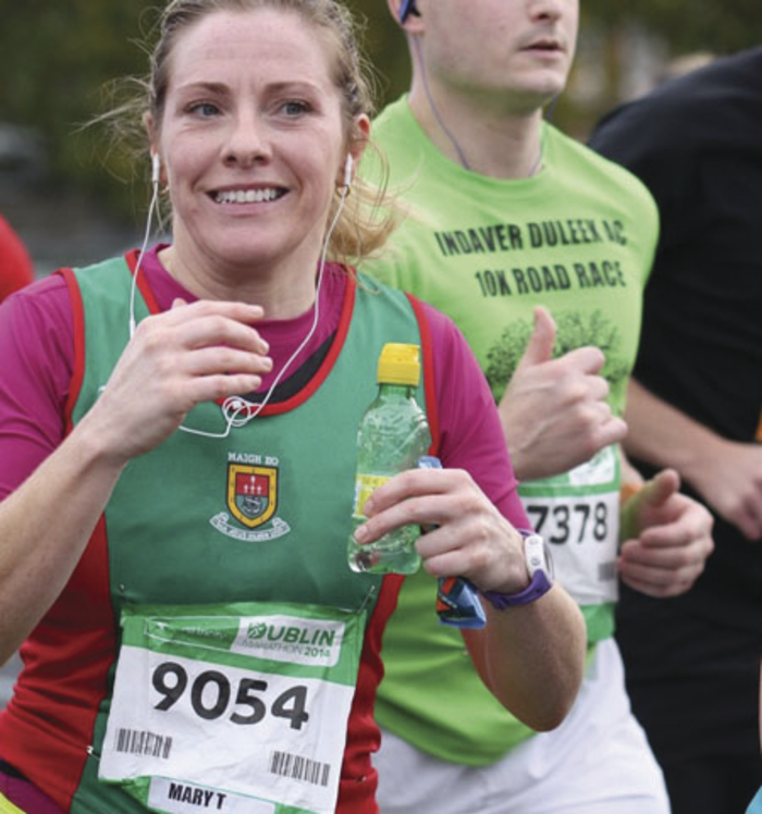 Mayo AC's Mary McDonald running in the Dublin marathon on Bank Holiday Monday.