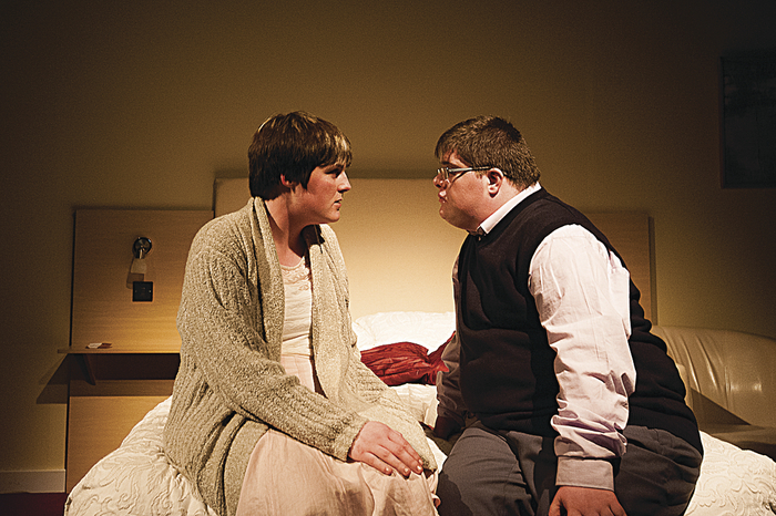 Charlene Kelly and Kieran Coppinger as Sophie and Larry in Christian O'Reilly's Sanctuary.