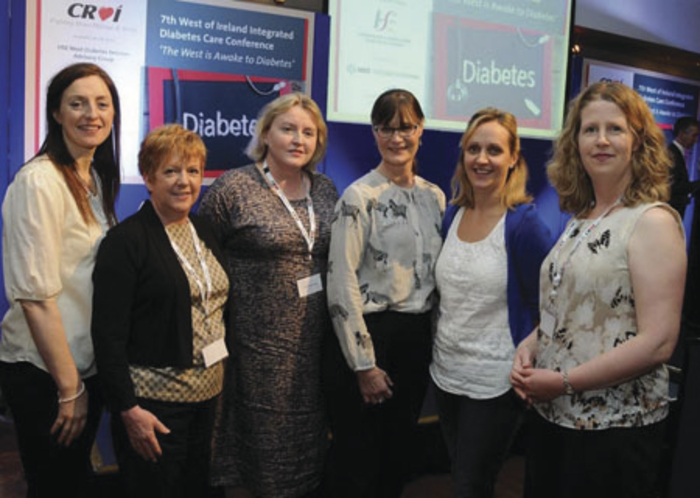 Pictured at the launch of Mayo Diabetes Awareness Month were: Corena Campbell, diabetes nurse specialist, Mayo PCCC; Marie Todd, advanced nurse practitioner, Mayo General Hospital; Dr Elizabeth Brosnan, consultant endocrinologist, Mayo General Hospital; Kathy McSharry, practice nurse coordinator; Bernie McDonnell, diabetes nurse specialist, Mayo General Hospital; and Ailish Houlihan, Croí nurse.