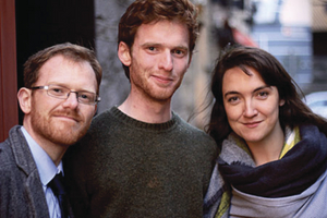 No Show: (LtoR) Peter Shine (director), Paul McCarrick (actor playing the role of Tommy)  and Grace Kiely (as Maire).