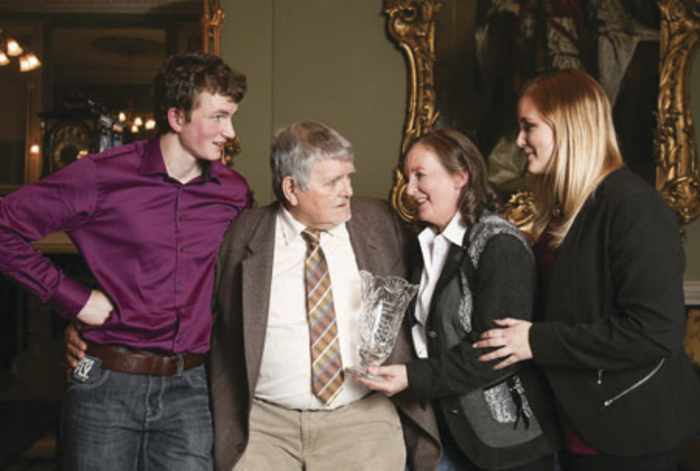Eleanor Ryder with her husband Seamus and children Jennifer and Peter. Photo: Conor McCabe.