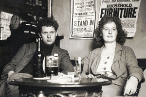 Dylan and Caitlin Thomas in a favourite drinking spot, Brown's Hotel, Laugharne. The photograph is one of many of the couple taken by Nora Summers.