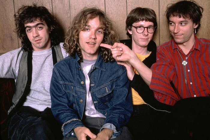 R.E.M pictured in 1984.