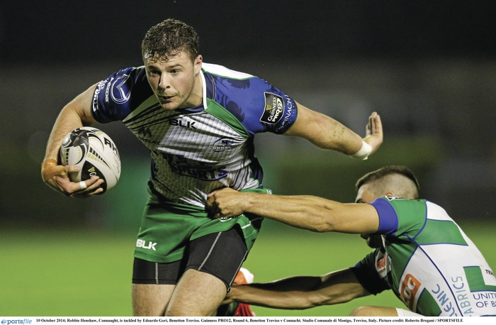 Back home: Connacht's will welcome Robbie Henshaw back in Connacht colours this weekend. Photo:Sportsfile