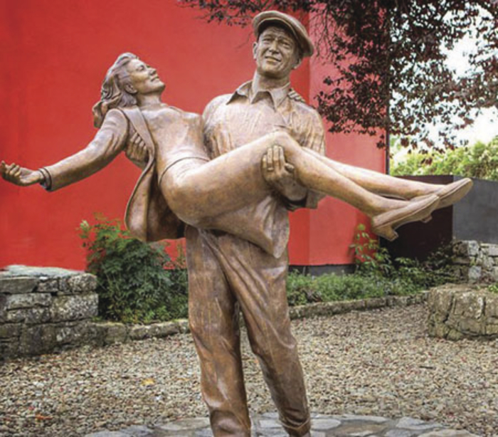 The Quiet Man statue in Cong: Sixty-three years on, the village is still capitalising on its association with the screen classic. Photo courtesy of Elizabeth Toher.