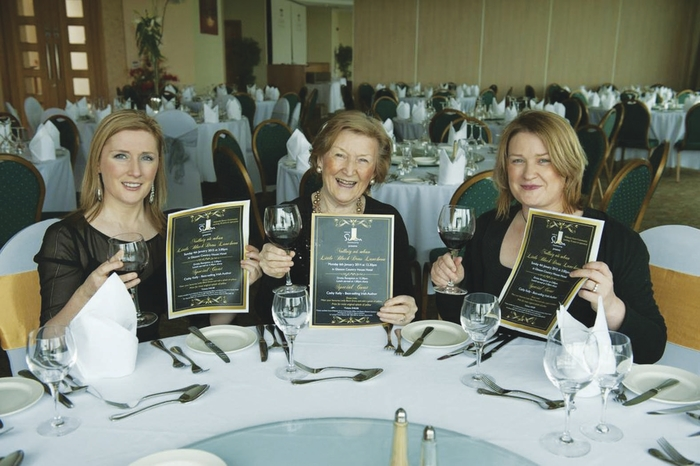 Aine, Breda, and Fidelma Reid launching the Midlands Simon Community's Nollaig na mBan Little Black Dress Luncheon, which takes place on January 4 in Glasson Country House Hotel & Golf Club
