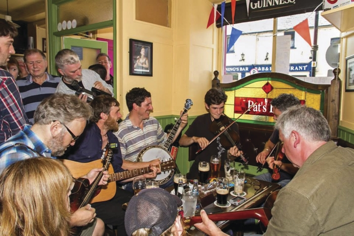 A session in full flow at this year's Westport Folk and Bluegrass Festival. Photo: Westport Folk and Bluegrass Festival Facebook page.