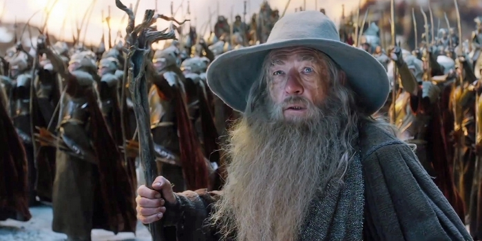 Sir Ian McKellan returns once more as Gandalf in The Hobbit: The Battle Of The Five Armies