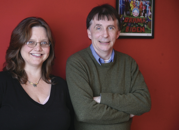 Susan Millar DuMars and Kevin Higgins. Photo:- Mike Shaughnessy