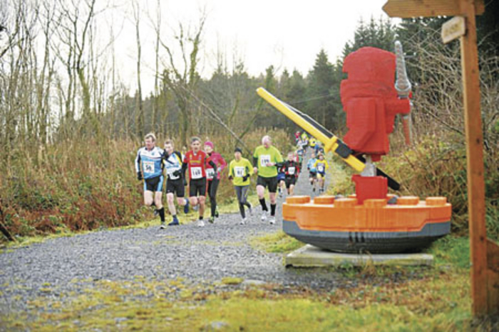 Participants take on the Land of the Giants in last year's duathlon event.