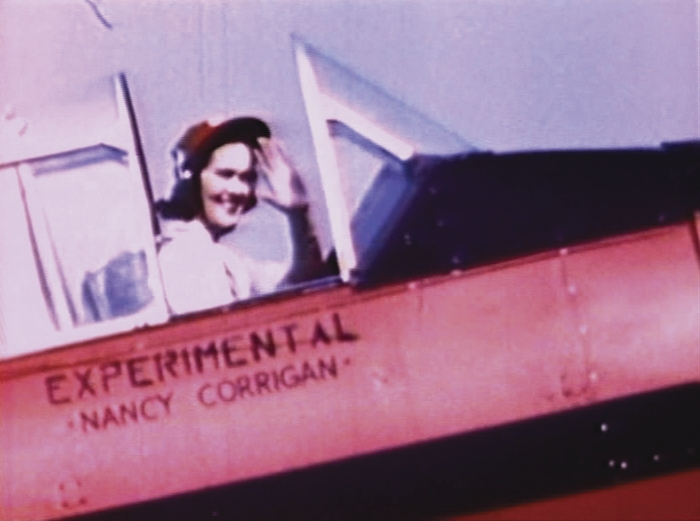 Nancy Corrigan ready to take to the sky at the Kendall Trophy Race in 1948.