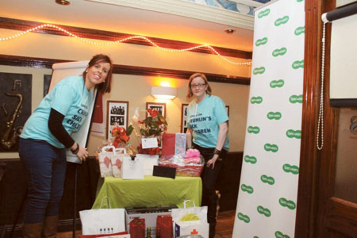 Pictured at the fundraising table quiz are Specsavers Athlone team members Anne-Marie Doyle and Audrey Quinn.